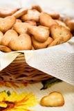 干酪薄脆饼干盐 免版税库存照片