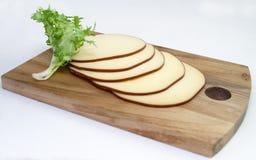 干酪被切的烟 免版税库存照片