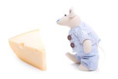 干酪解救鼠标 免版税库存照片