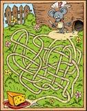 干酪迷宫鼠标 免版税库存照片