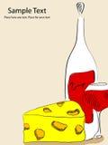 干酪酒 库存例证