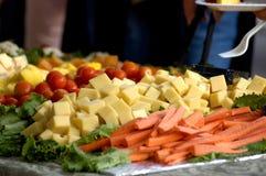 干酪食物盘 免版税库存图片