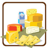 干酪 向量例证