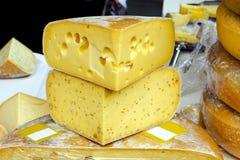 干酪emmentaler 库存图片