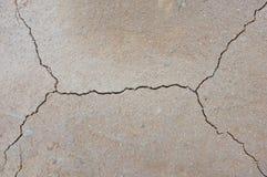 干陆破裂的地球上的纹理 库存图片