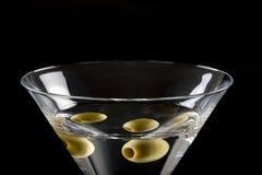干马蒂尼鸡尾酒橄榄 库存照片