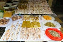 干鱼和海鲜 免版税库存照片
