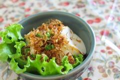 干鱼快餐豆腐 免版税图库摄影