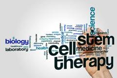 干细胞疗法词云彩 库存照片