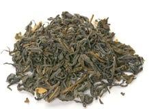 干绿色茶叶 库存图片