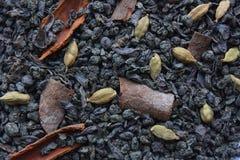 干绿茶用香料 库存图片