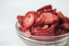 干冻结草莓 免版税库存图片