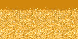 水平传染媒介金黄发光的闪烁的纹理 免版税库存图片
