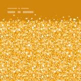水平传染媒介金黄发光的闪烁的纹理 免版税库存照片