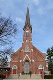平原的教会 图库摄影