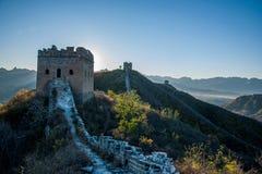 滦平县,河北金山岭长城 库存照片
