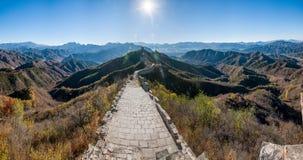 滦平县,河北金山岭长城 免版税库存照片