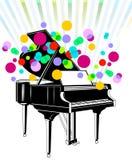 平台大钢琴钢琴 免版税库存图片