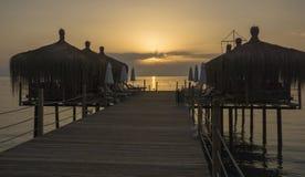 平台的海滨别墅 免版税库存照片