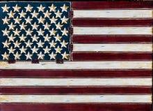水平土气的美国国旗 免版税库存照片