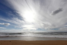 水平地中海的浪潮 图库摄影