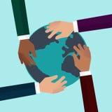 平地球的地球 免版税图库摄影