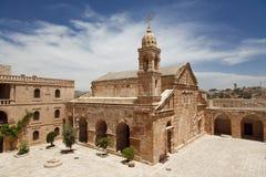 平均观测距离雅库普(雅各布)修道院, Mardin 免版税库存照片