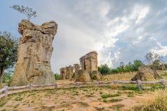 平均观测距离HIn Kao stonehenge泰国 免版税库存图片