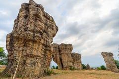平均观测距离HIn Kao stonehenge泰国 库存图片