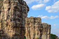 平均观测距离Hin Khao泰国的巨石阵 免版税库存图片