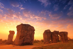 平均观测距离hin khao,泰国的stonehenge 免版税库存照片