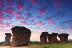 平均观测距离hin khao,泰国的stonehenge 库存照片