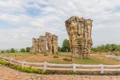平均观测距离hin khao (泰国的stonehenge ) 免版税库存图片