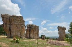 平均观测距离Hin Khaow巨石阵Chaiyaphum泰国 库存照片