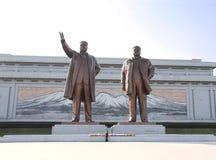 平壤,北朝鲜, 2017年9月14日:盛大纪念碑Mansu 库存照片