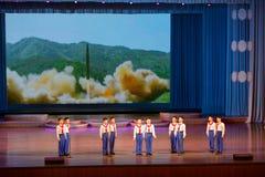 平壤,北部KOREA-OCTOBER 12,2017 :北朝鲜的先驱每 库存照片