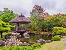 平安日本的庭院 库存图片