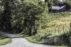 平安的乡下公路在俄亥俄 库存图片