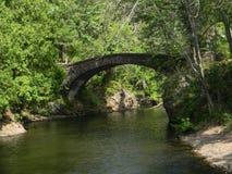 平安的历史的石桥梁 免版税图库摄影