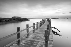 平安的古老码头 免版税库存照片