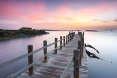 平安的古老码头 库存照片