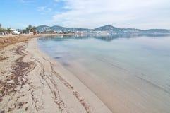 平安的塔拉曼卡海滩 图库摄影
