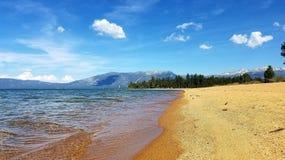 平安的太浩湖 图库摄影