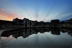 平安的宏观村庄 图库摄影