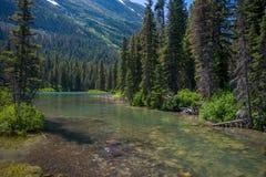 平安的小河,蒙大拿 图库摄影