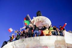平安的抗议到位de la Republique 免版税库存照片