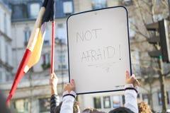 平安的抗议到位de la Republique 库存图片