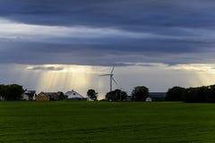 平安的斯堪的纳维亚村庄 免版税库存照片