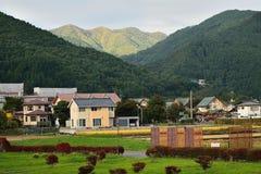 平安的日本农村风景 库存照片