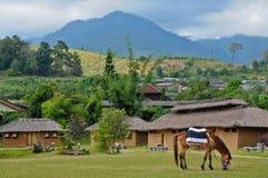 平安的村庄在Pai泰国 库存图片